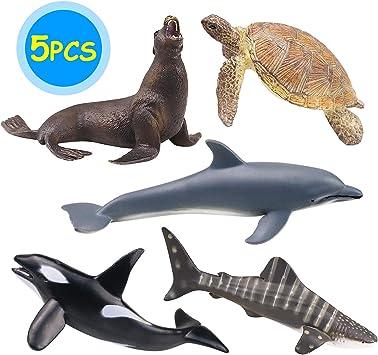 Collecta Squalo Ray plastica giocattolo Wild Zoo Animale Marino Mare Pesci chitarra NUOVO
