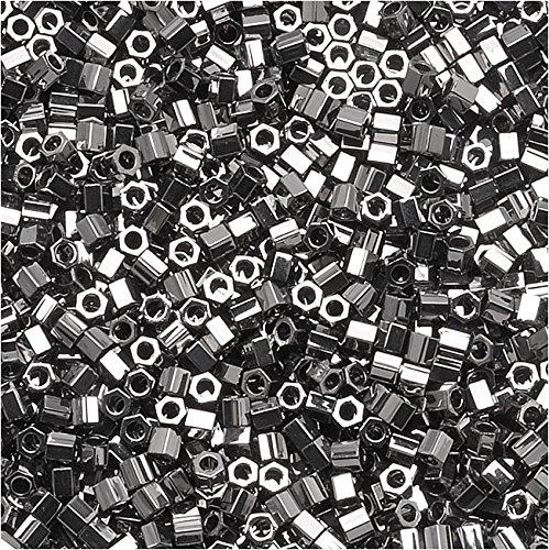 Miyuki Delica Hex Cut Seed Beads 15/0 Steel DBSC021 4 -