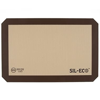 Sil-Eco E-99129 Non-Stick Silicone Baking Liner, Medium Size, 9-1/2  x 14-3/8