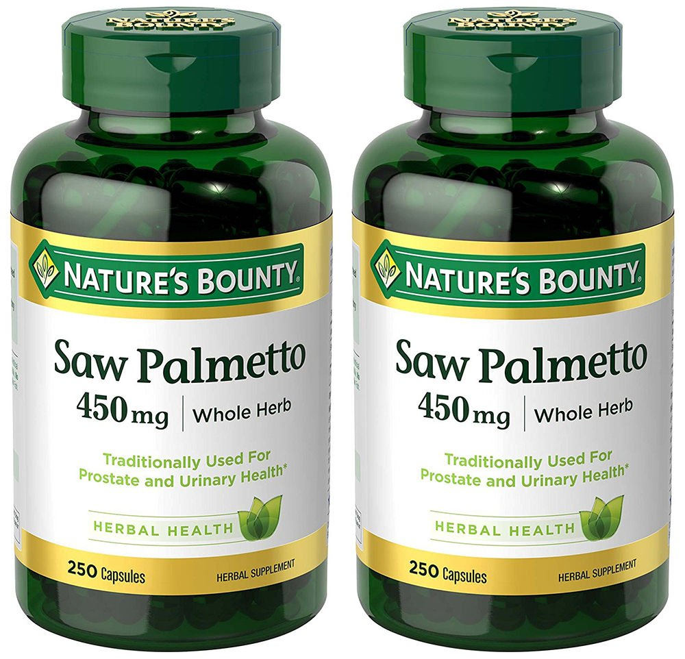 Saw Palmetto 450 mg, 2 Bottles (250 Count)