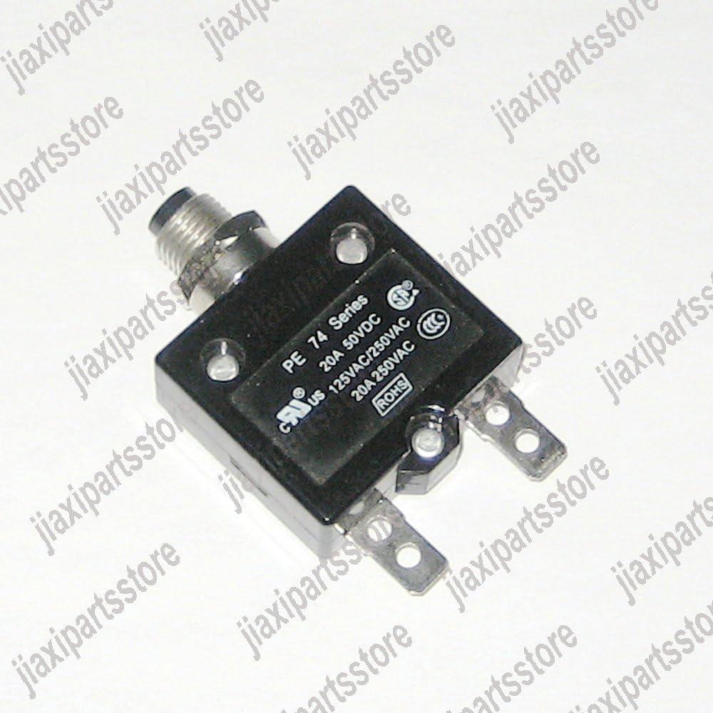 125//250Vac 20A 20 Amp Circuit Thermal Breaker Thermal Protector For Generator SL