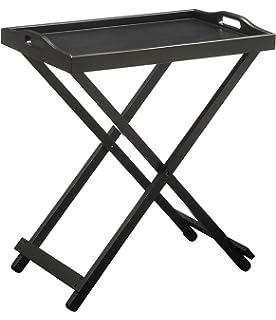 Amazing Convenience Concepts Designs2Go Folding Tray Table, Black