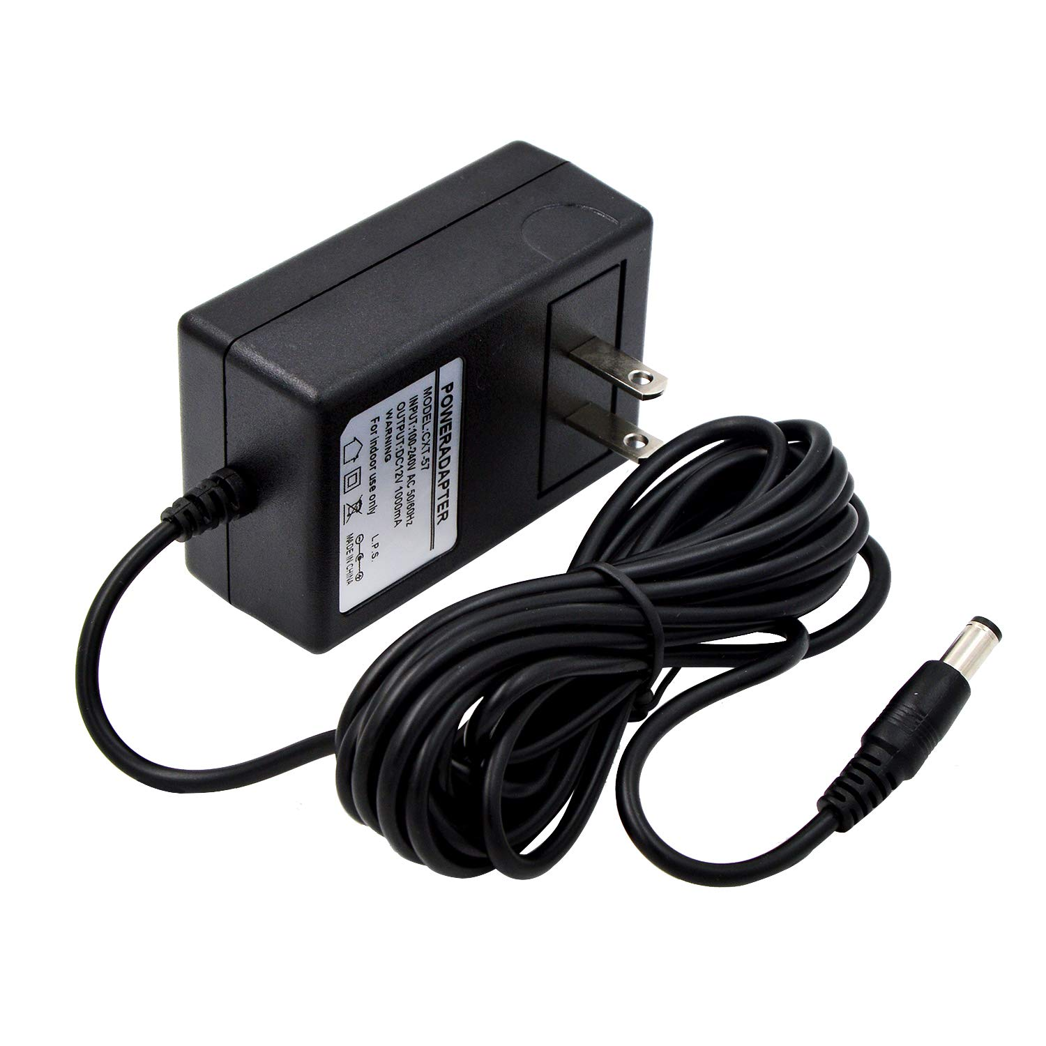 Universal 9.8 Ft 12V 1A Power Supply AC Adapter for Yamaha PSR, YPG, YPT, DGX, DD, EZ and P digital piano and portable Keyboard series (PA130 PSR-E403 and below YPT-400 and below, EZ-200 and EZ-AG)