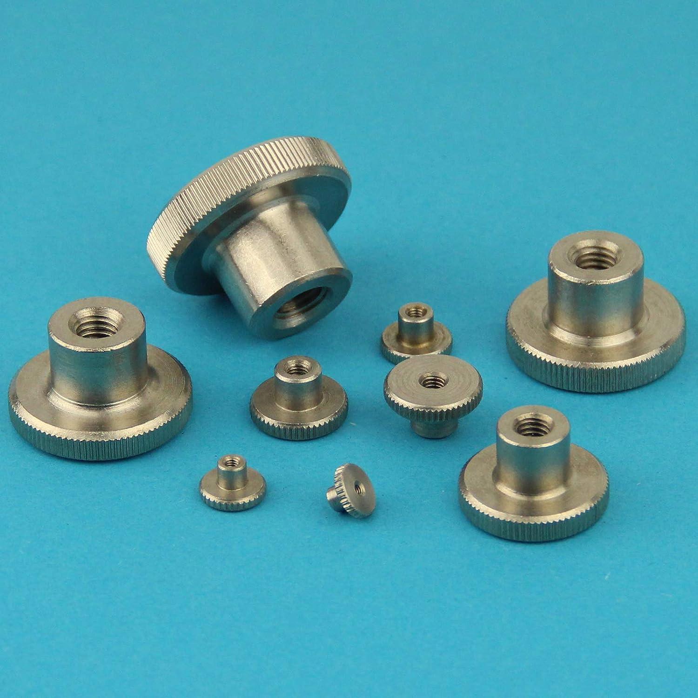 Edelstahl A1 1.4305 M6 R/ändelmuttern hohe Form 2 St/ück Eisenwaren2000 rostfrei - R/ändel-Mutter DIN 466
