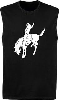 Canottiera Uomo Nera FUN1877 Horses Horse Animal