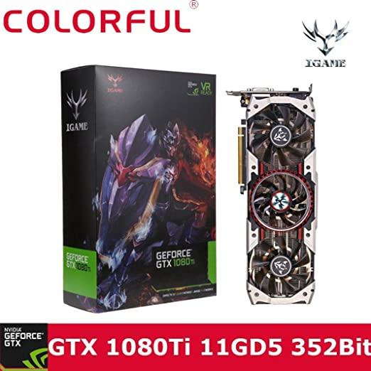 Graphics Card, iGame GTX1080Ti Vulcan AD 11GB Video Graphics Card 1594/1708MHz forNIER colorful