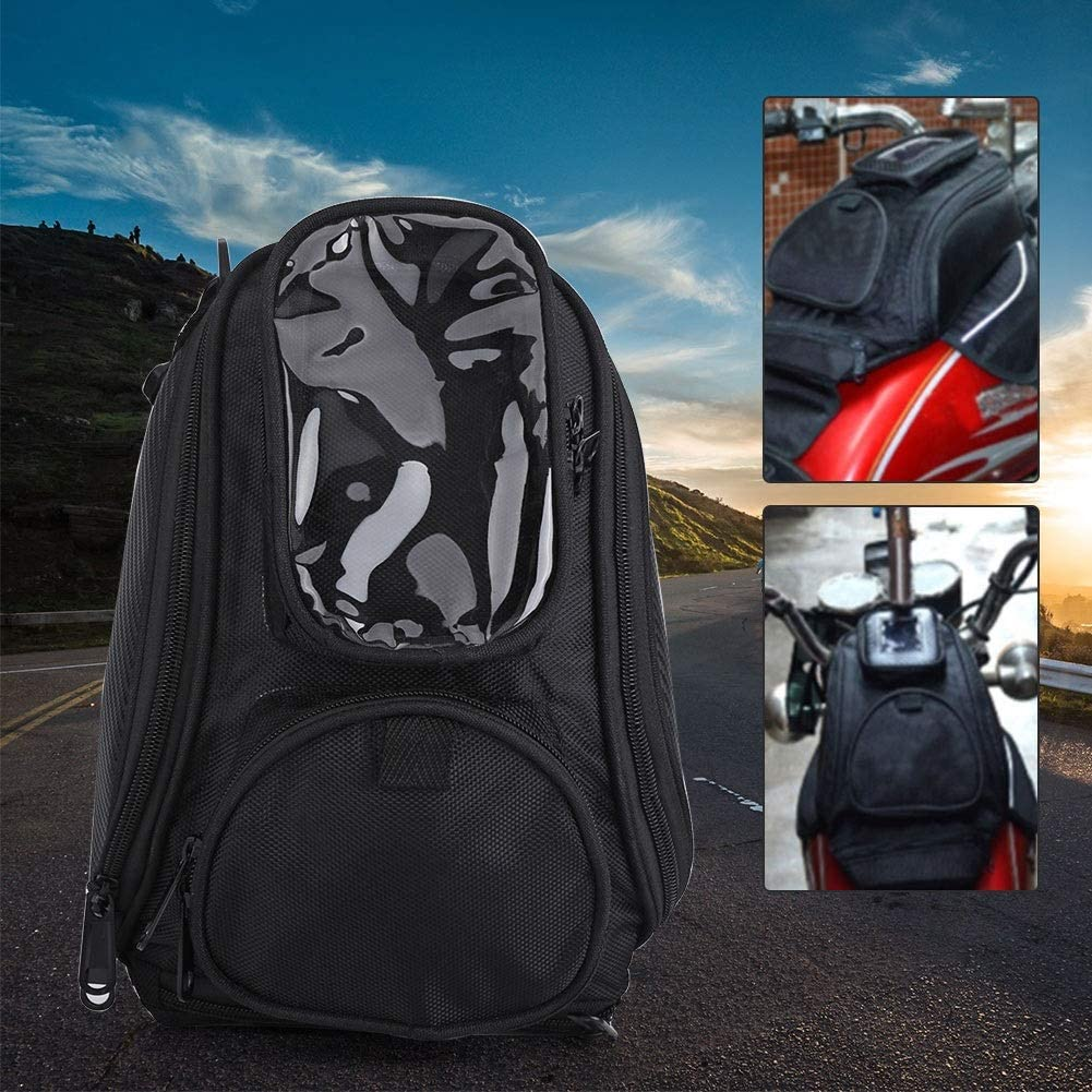 Sac De Moto Noir Delaman Universal Moto /Équitation Forte Magn/étique /Étanche Sac De R/éservoir De Carburant