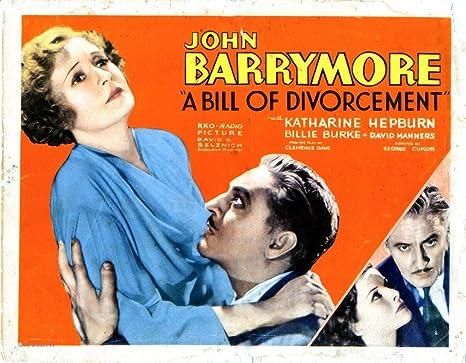 Amazon.com: Posterazzi A Bill Of Divorcement From Left Billie Burke John  Barrymore Katharine Hepburn 1932 Movie Masterprint Poster Print, (28 x 22):  Posters & Prints