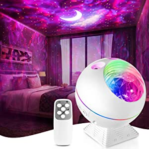 Star Projector,Galaxy Night Light Lamp Lite Room Bedroom Decor,Led Cloud Ceiling Adults Ocean Nebula Voice Control Timer Kid Starry Starlight Night-Lights Birthday Gifts Womem Mom Remote