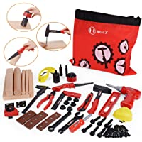 NextX Kids Tool Set 69 Pieces Educational Pretend Play Toys Electronic Drill Foam Wood Construction Kit Gift for Kids Boys & Girls