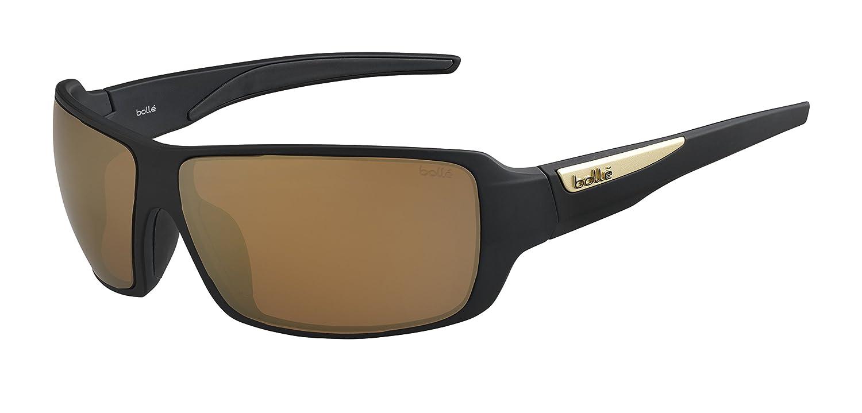 Bolle Cary Polarized Sunglasses Matte Black, Inland Gold Mirror B01MFCPWRM, シープワン f54e97fe