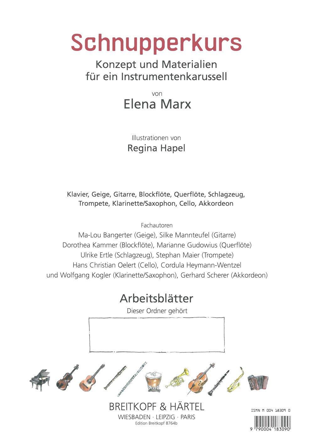 Schnupperkurs Konzept und Materialien für ein Instrumentenkarussell ...