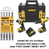 DEWALT 18V CORDLESS XR LI-ION COMBI DRILL & IMPACT DRIVER TWIN PACK DCZ298S2T