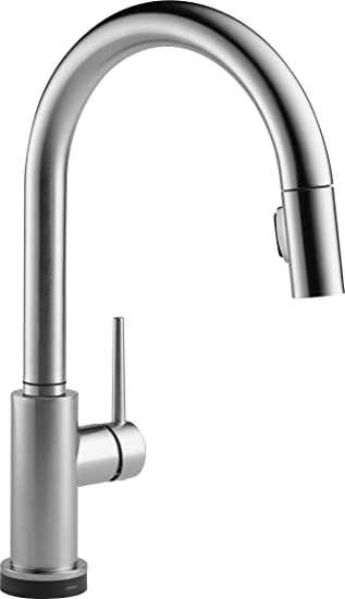 Delta Faucet TARDST Trinsic Single Handle PullDown Kitchen - Amazon com delta faucet kitchen sink faucets kitchen faucets