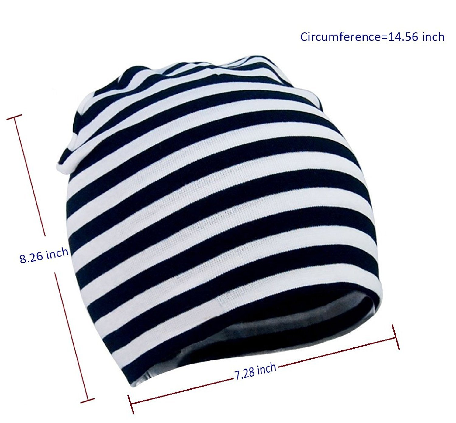 American Trends Toddler Infant Cotton Hat Unisex Knit Stretchy Baby Caps Casual Newborn Kids Lovely Soft Warm Beanies A 3 Pack-Black Stripe Grey Large (1-4 Years) by American Trends (Image #2)