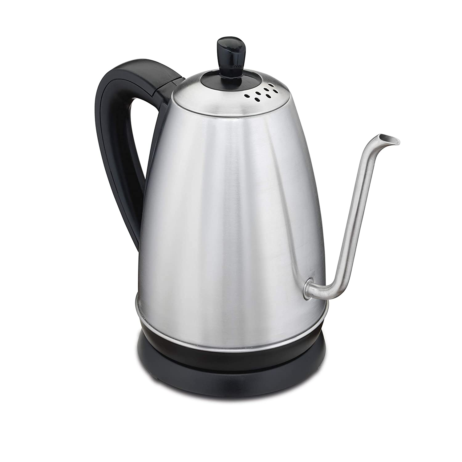 Hamilton Beach 1.2 Liter Gooseneck Pour Over Electric Kettle for Tea and Hot Water, Cordless, Auto-Shutoff and Boil-Dry Protection, Stainless Steel 40899