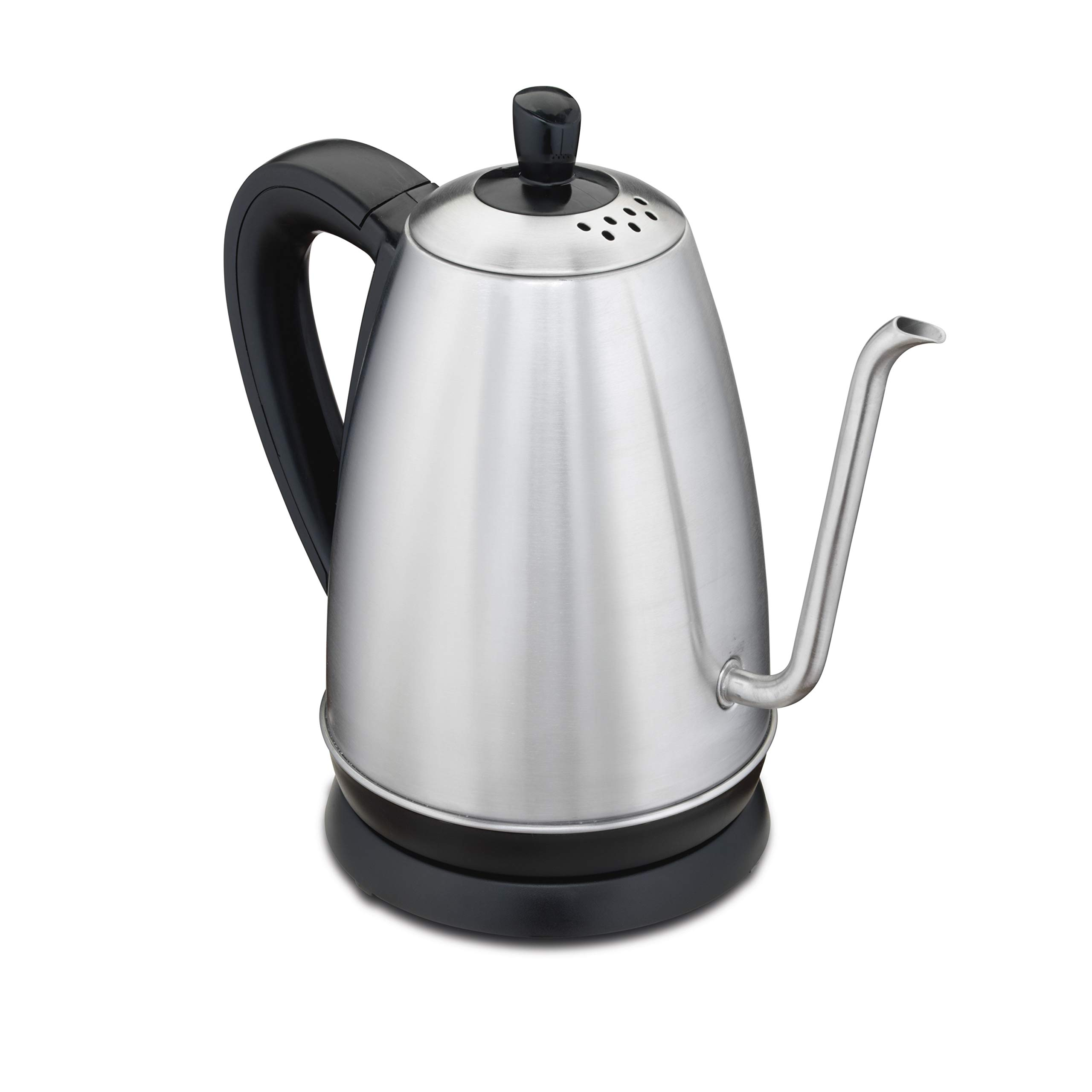 Hamilton Beach 1.2 Liter Gooseneck Pour Over Electric Kettle for Tea and Hot Water, Cordless, Auto-Shutoff and Boil-Dry Protection, Stainless Steel (40899) by Hamilton Beach