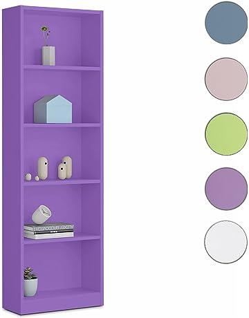 Habitdesign - Estantería Juvenil 6 baldas, Medidas: 180x52x25 cm de Fondo