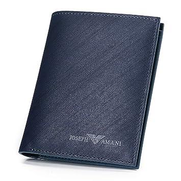 Cartera Wallet Hombres Juvenil Cartera Vertical Business Tarjeta Azul Paquete (Color : Azul, Tamaño : 12 * 10 * 20cm): Amazon.es: Equipaje