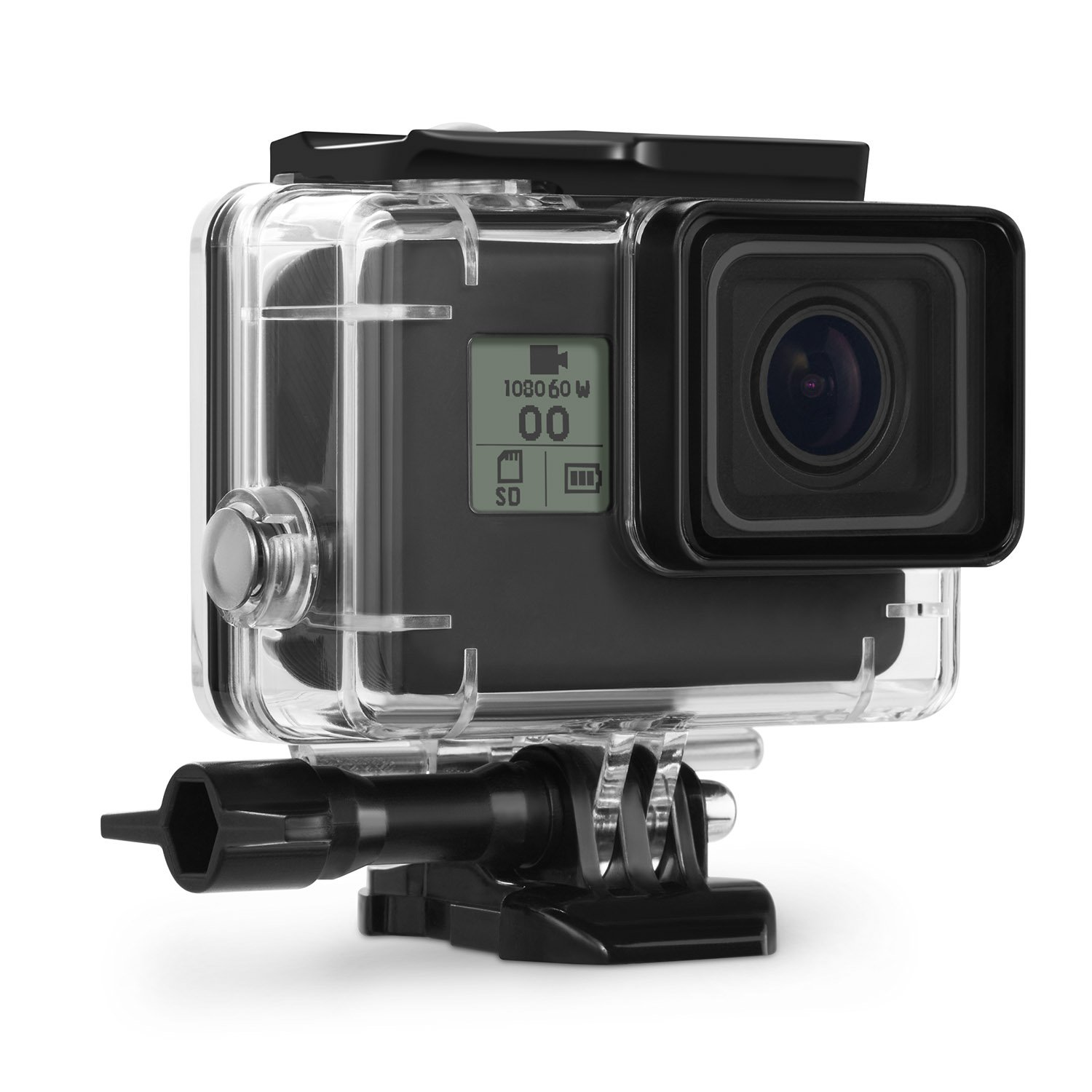 Kupton Waterproof Case for GoPro Hero 7 Black Hero 5 / 6 Accessories Housing Case Diving Protective Housing Shell 45 Meter for Go Pro Hero7 Hero6 Hero5 Hero 2018 Action Camera with Bracket Accessories by Kupton