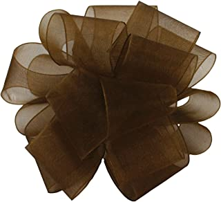"product image for Offray Berwick LLC 425077 Berwick Simply Sheer Asiana Ribbon -5/8"" W X 25 yd - Chocolate Ribbon"