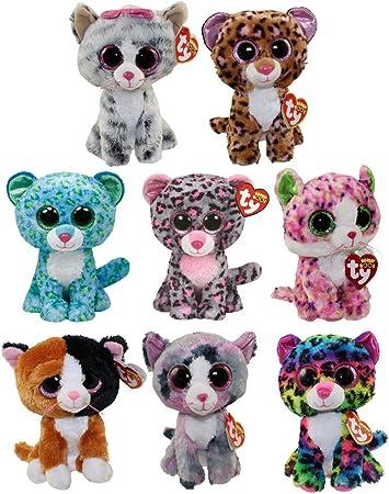 TY Beanie Boos SET OF 8 CATS Leona, Tasha, Sophie, Patches, Tauri, Lindi ++