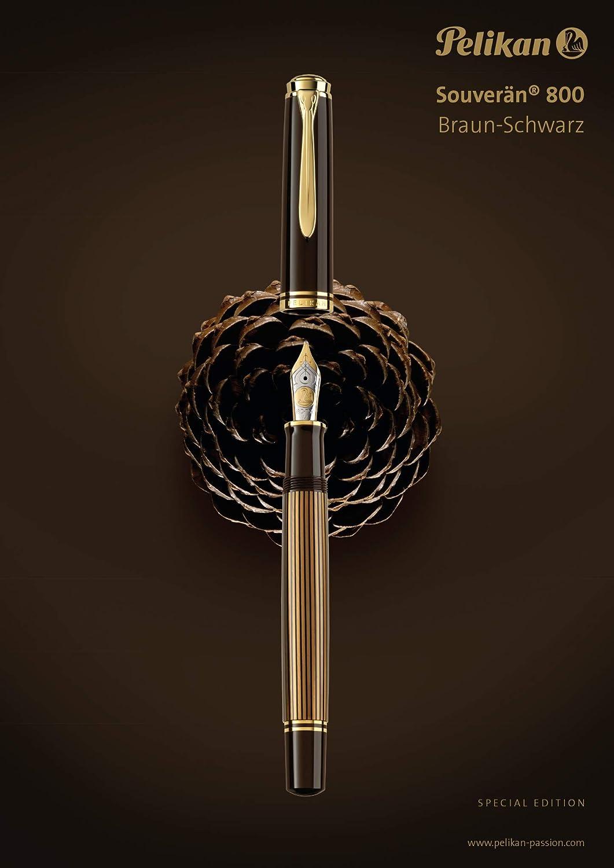 edizione speciale Pelikan colore: Marrone//Nero Pennino F marrone-nero Penna stilografica Souver/än M800