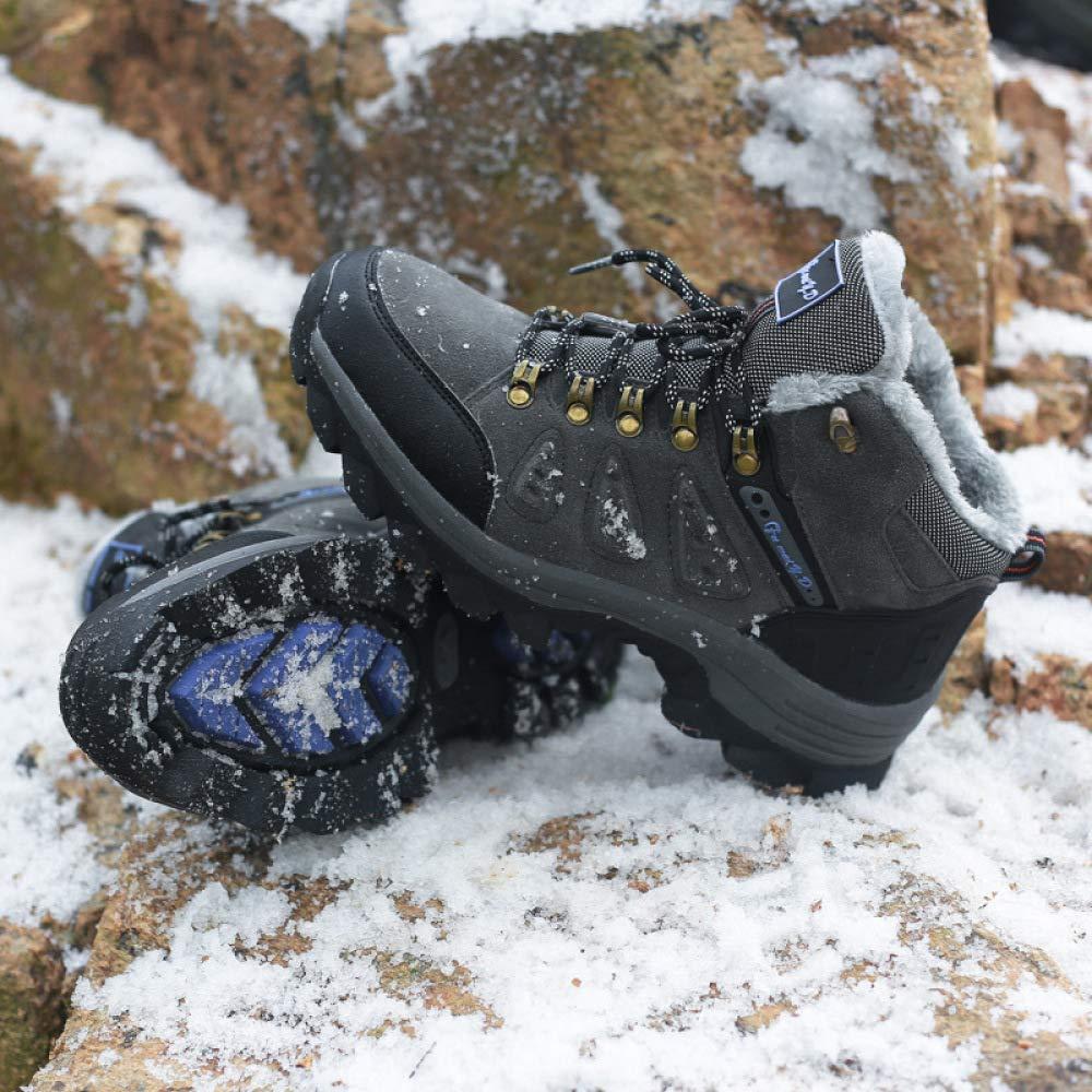 HhGold Männer Nd Frauen Plus Wanderschuhe Baumwolle Schneeschuhe Wanderschuhe Plus Freizeitsportarten (Farbe : Dunkelgrau, Größe : 36EU) f562ce