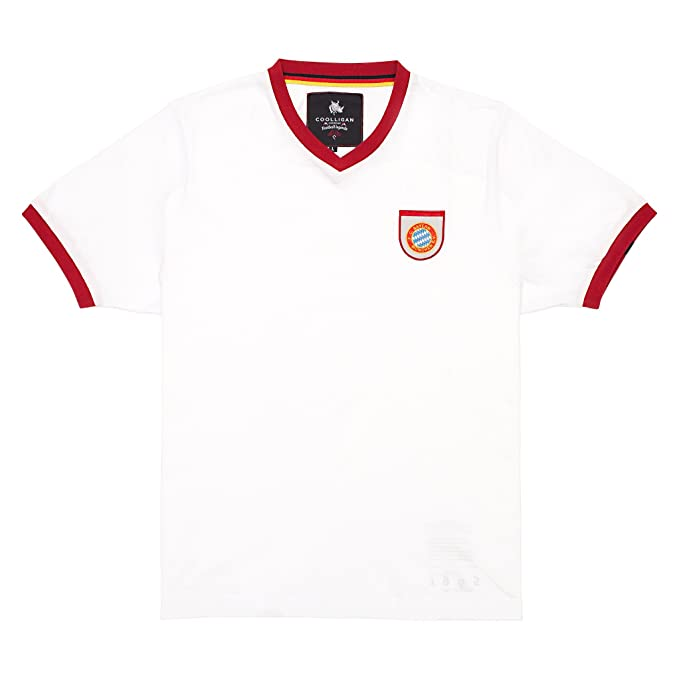 Coolligan - Camiseta de Fútbol Retro 1965 GERD Müller - Color - Blanco - Talla -