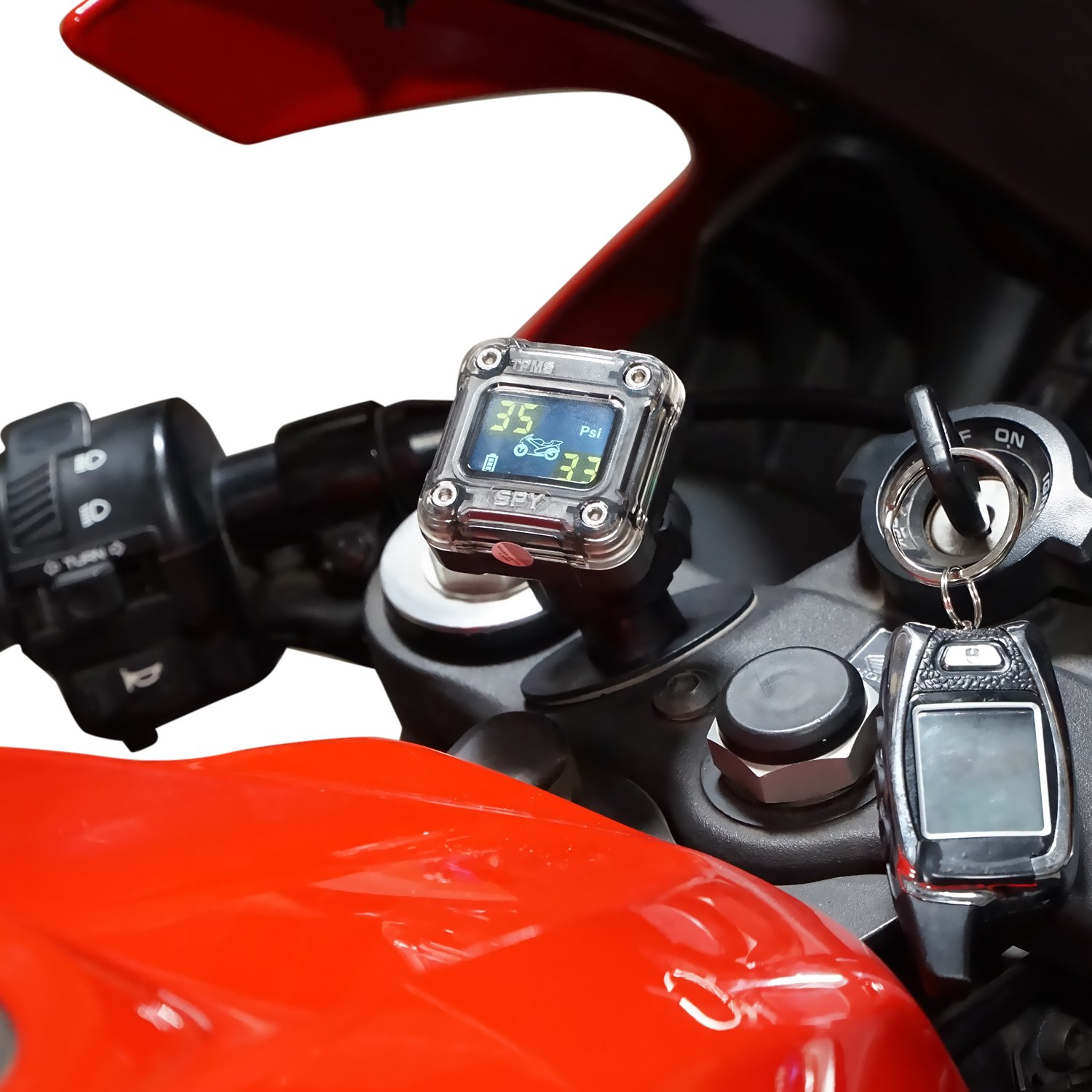 TPMS 2 Tire Set GENSSI TPMS Motorcycle Wireless Tire Pressure Monitoring System Digital LCD