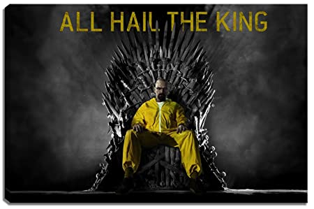 Breaking Bad Game Of Thrones Picture On Canvas Size 23 6 X 15 7 High Quality Art Print As A Mural Cheaper Than An Oil Painting Warning No