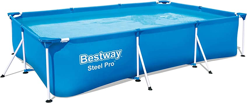 Bestway Steel ProPool 300x201x66 cm, Stahlrahmenpool Piscina Desmontable Tubular, Azul, 300 x 201 x 66 cm