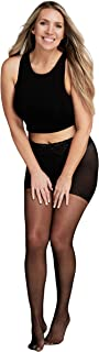 product image for Black Sheer Pantyhose | Comfort Lace Top | Stay Up | Seven Sizes with Plus Sizes