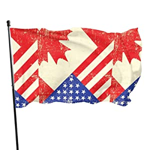 Garden Flags Canada America Flag Flags 3X5 ft House Yard Porch Lawn Sign Outdoor Décor Double-Sided with Metal Grommets Much Thicker More Durable