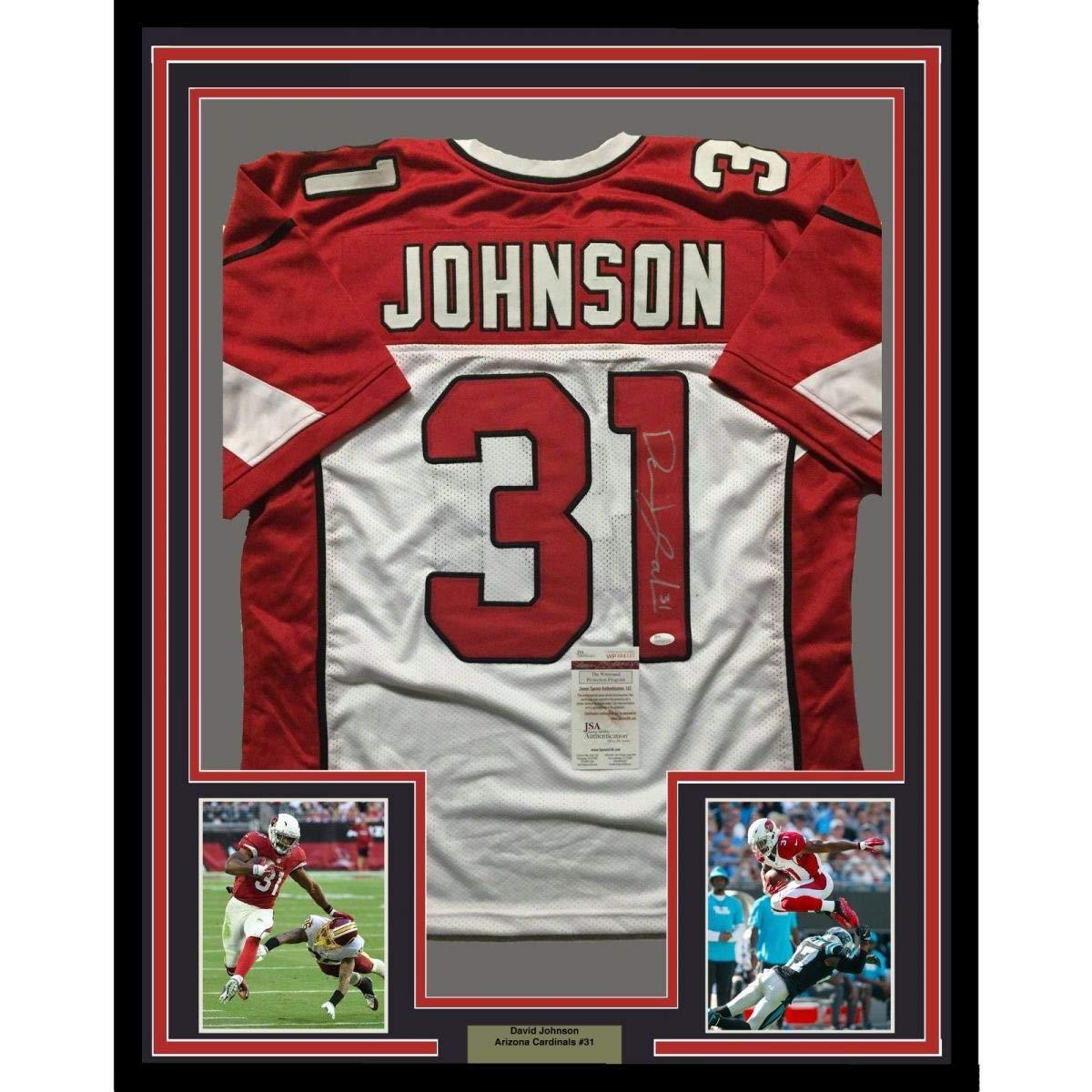 Framed AutographedSigned David Johnson 33x42 Arizona Cardinals  supplier