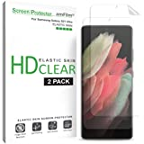amFilm (2 Pack) Screen Protector for Samsung Galaxy S21 Ultra (6.8 Inch), Case Friendly (Easy Install) HD Clear Elastic…