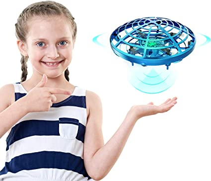 UFO Drone Mini Drone Small Flying Hand Operated Drones for Kids Adults,Hands Free Ball Toy Indoor Outdoor Motion Sensor Helicopter Ball Toys for Kids 6 7 8 9 10 and Up Years Boys Girls Gift