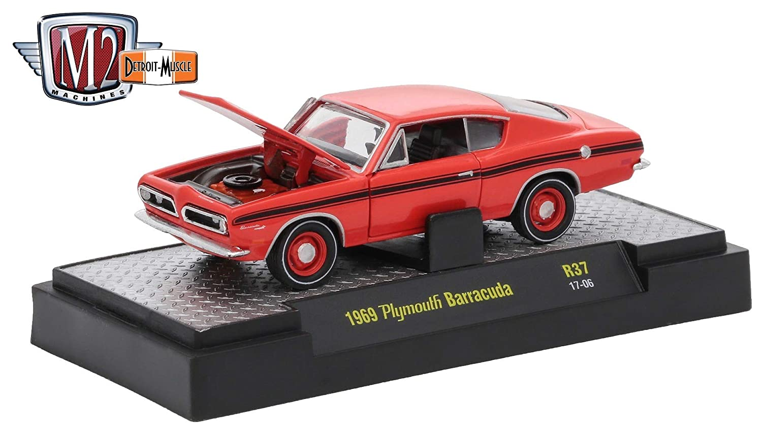 Amazon.com: M2 Machines 1969 Plymouth Barracuda (Matador Red) - Detroit Muscle Release 37 2017 Castline Premium Edition 1:64 Scale Die-Cast Vehicle (R37 ...