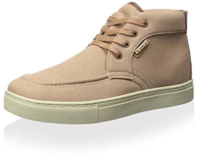 Mens Habit Mid Twill Midtop Sneaker, Tan/Cabin/Cream, 6.5 M US Lugz