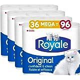 Royale Original, Soft Toilet Paper, 36 Mega Equal 96 Rolls, 327 Bathroom Tissues Per Roll, 9 Count
