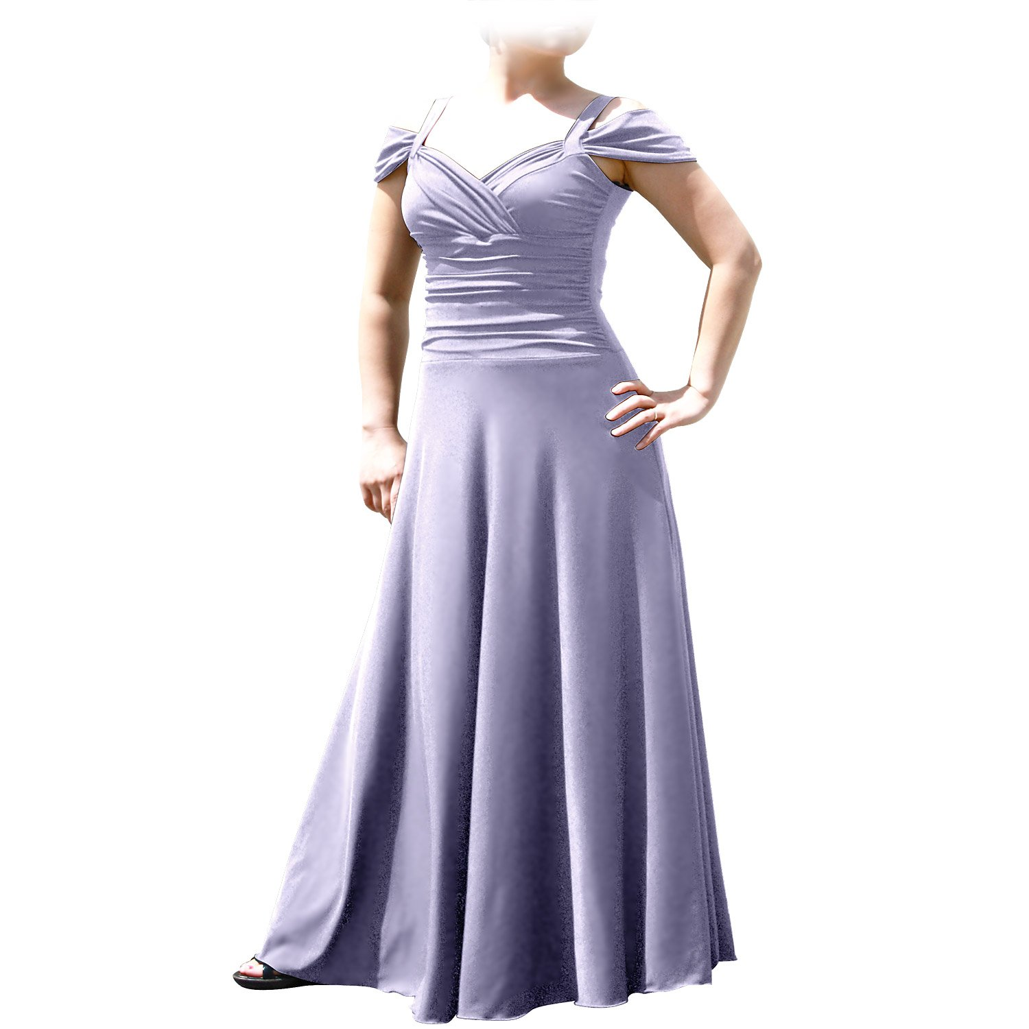 Amazon.com: EVANESE Women\'s Plus Size Elegant Long Formal Evening ...