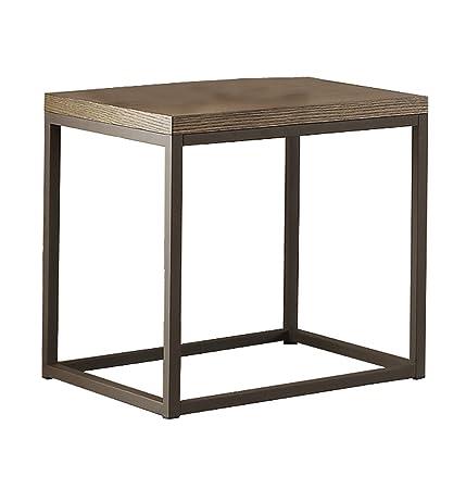Homelegance Daria 24 x 22 End Table, Brown
