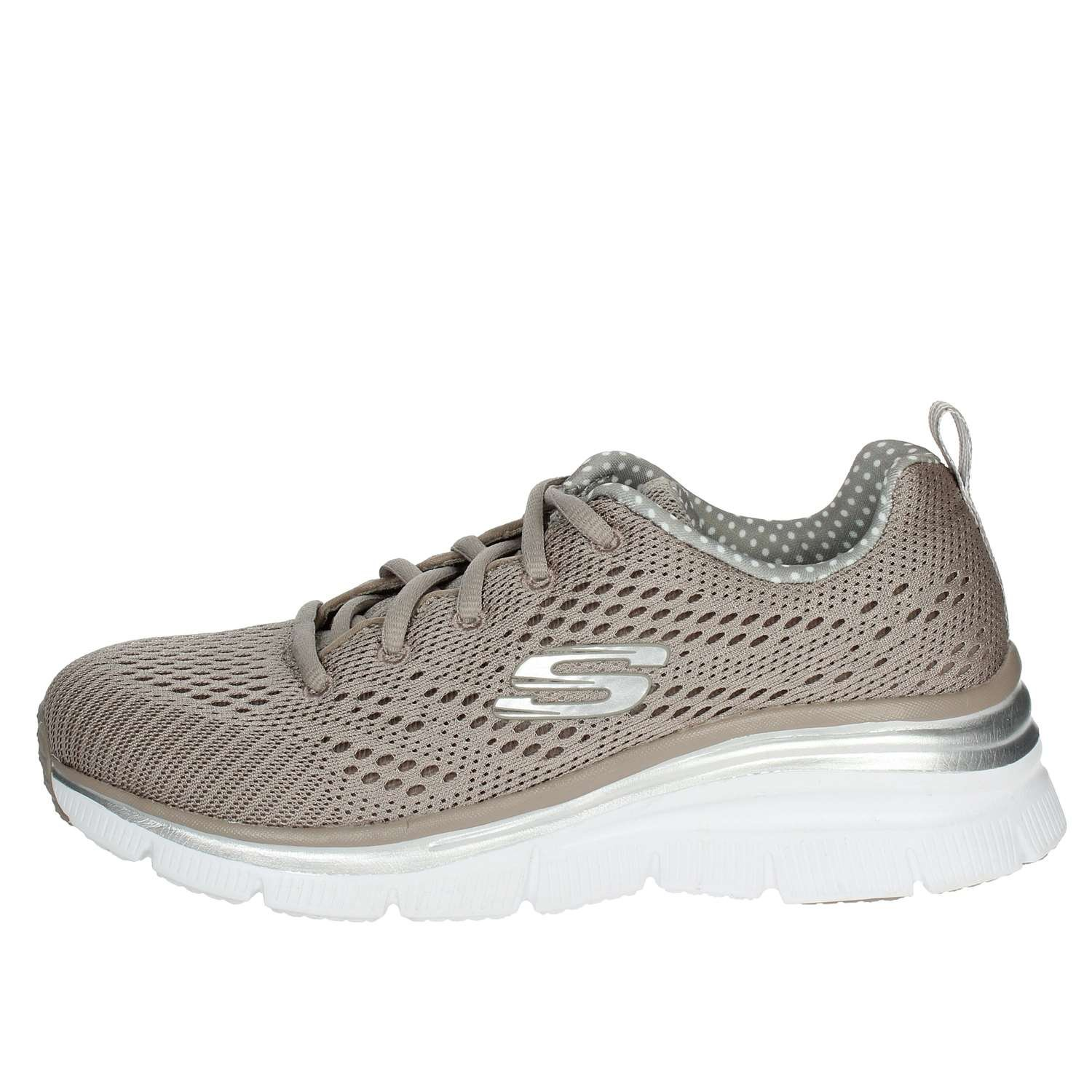 Skechers Scarpe Donna Sneakers Statement in Tela Beige 12704 ...