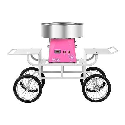 Royal Catering RCZK-SET5 Máquina de Algodón de Azúcar Algodonera Industrial con Carrito (1.030