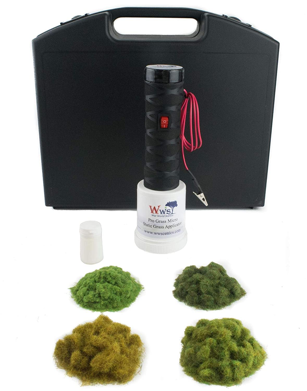 War World Scenics Applicatore PRO Grass Micro Starter Kit - Modellismo Ferroviario Modello Diorama Terrain