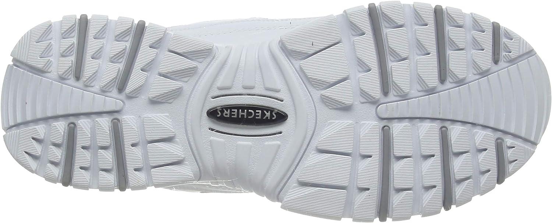 Skechers Sport-energy, Zapatillas Para Mujer White Smooth Leather Millennium Trim Yellow Wml