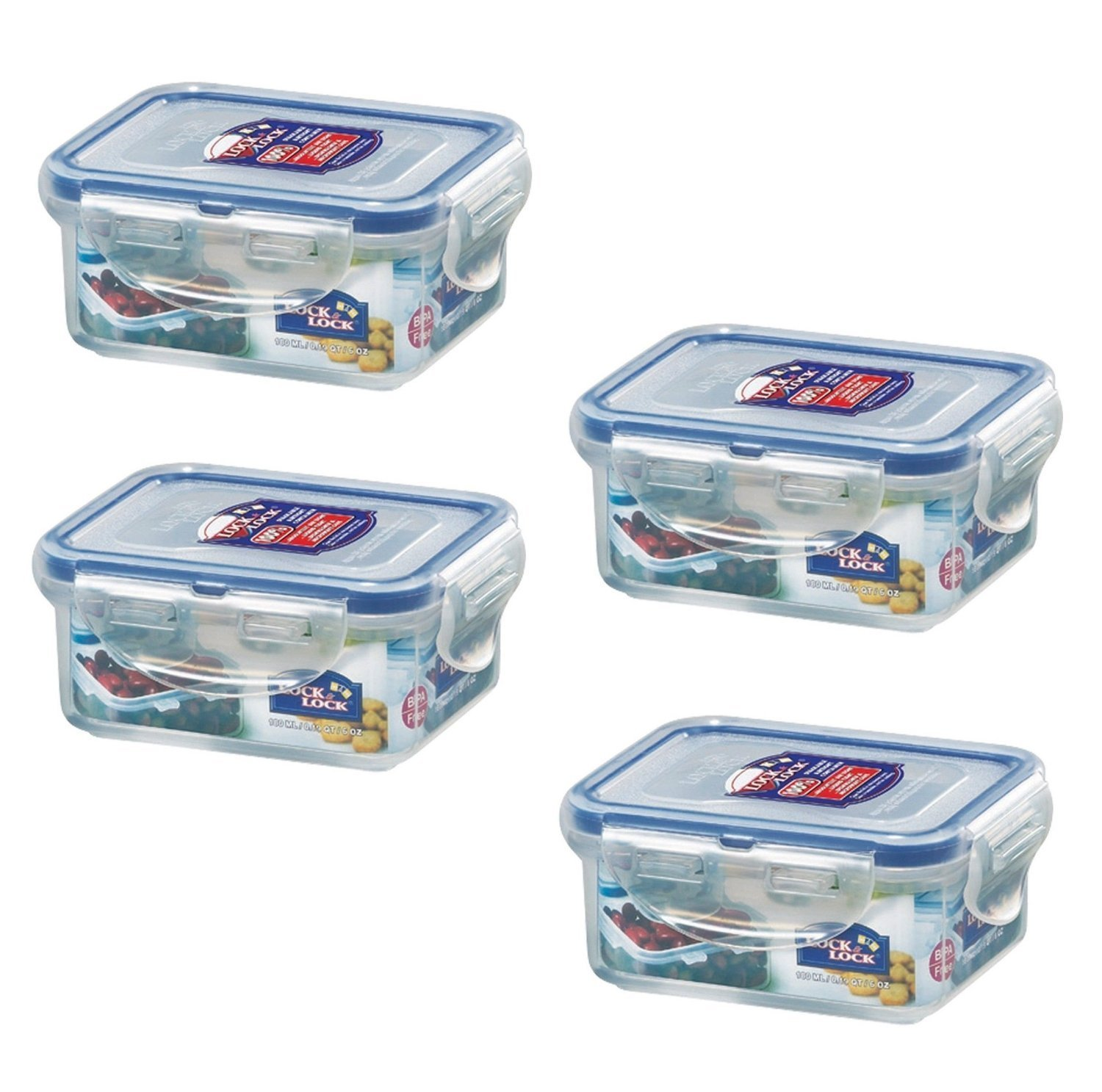Charmant Amazon.com   LOCK U0026 LOCK (Pack Of 4) Airtight Rectangular Food Storage  Container 6 Oz / 0.76 Cup