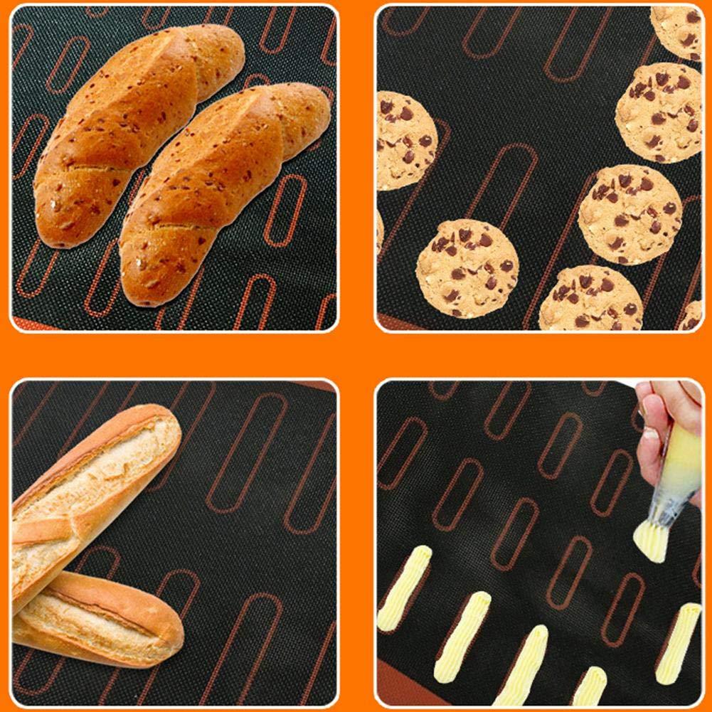 30x40 CM Tappetino per Cottura a Base di Pasta sfoglia in Silicone Antiaderente Cuscinetto da Forno per Cottura a Forma di Padella Antiaderente in Silicone per Eclair Pane e Altri Tipi di Pasta