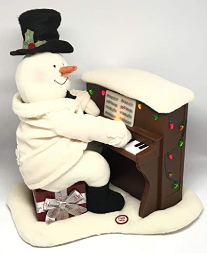 Amazoncom Hallmark 2005 Piano Playing Snowman Techno Plush
