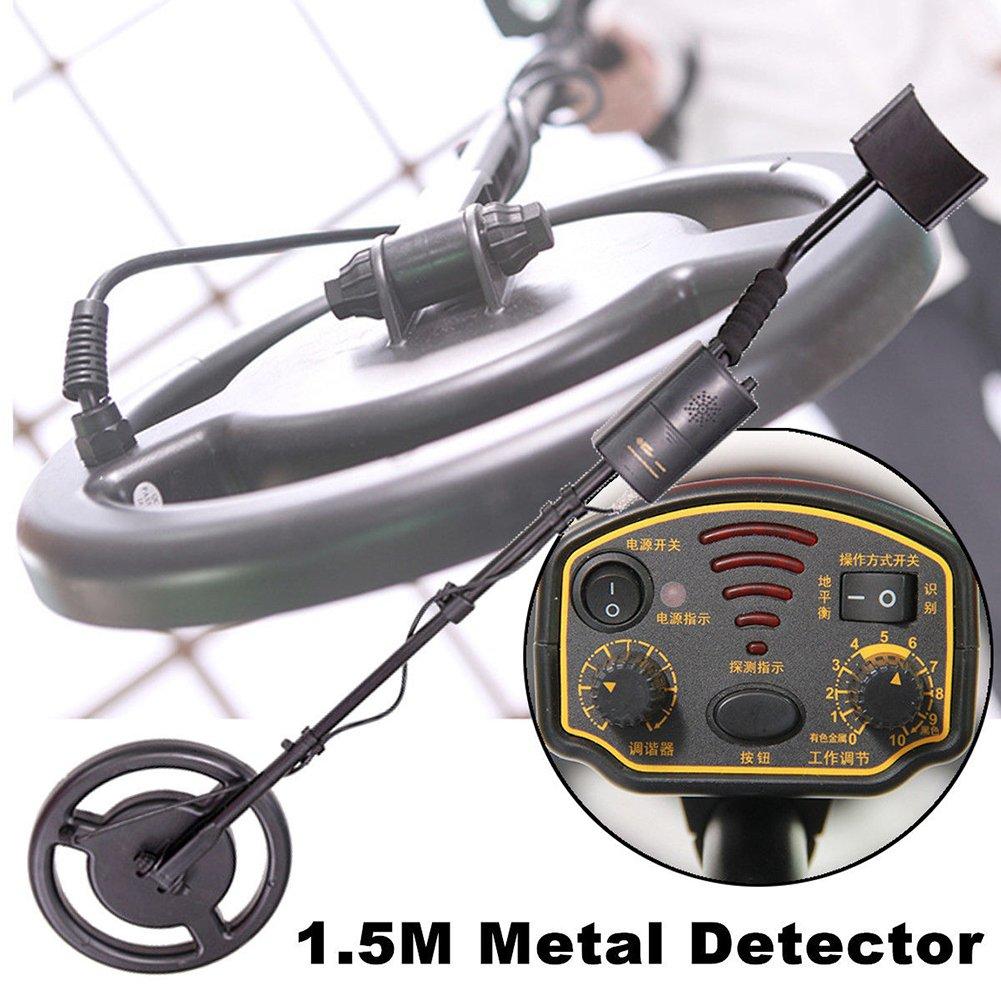 BQLOVE Detector de metales subterráneos, impermeable, profundidad de 1,5 m AR944 Escáner Buscador Dorado Dígger Treasure Hunter: Amazon.es: Hogar